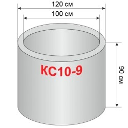Кольцо колодца КС 10.9